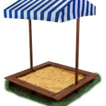 KidKraft 4×4 Outdoor Sandbox for kids