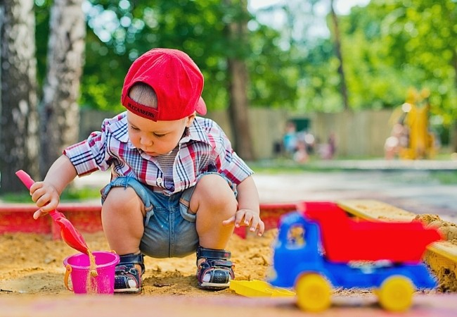 Toddler playing in sand - Are sandboxes safe for toddlers?